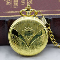 Luxury Antique Golden Round Dial Mechanical Pocket Watch Necklace Pendant Clock for Mens Womens Best Gifts PJX1322