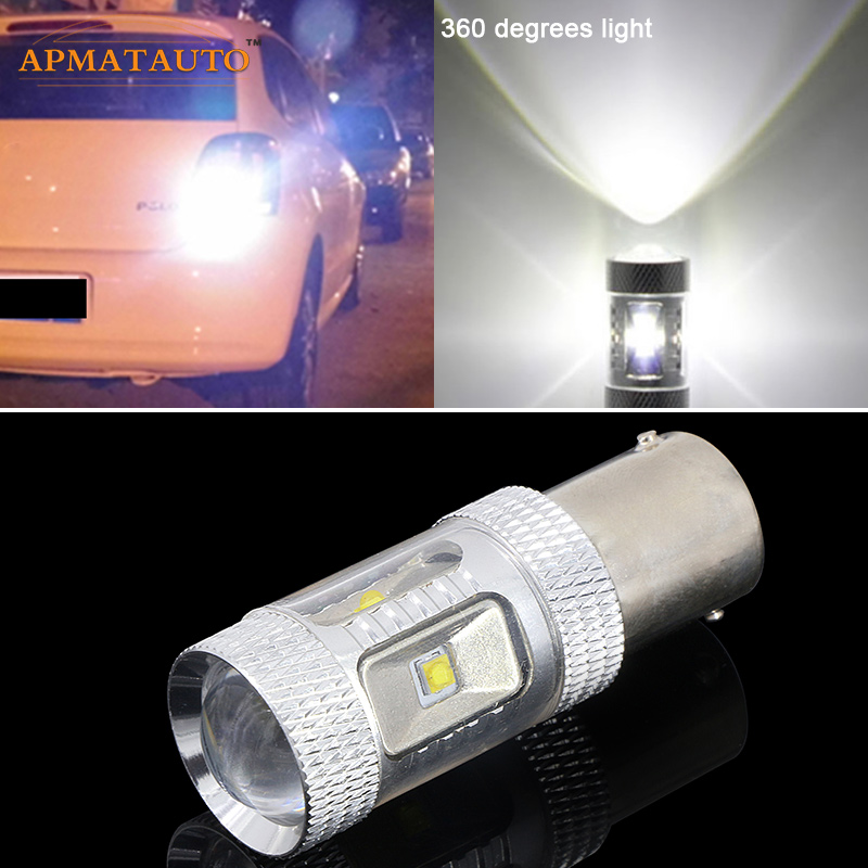 For  Volkswagen VW TRANSPORTER T4 T5  1156 P21W Canbus Error Free 12V LED Car Reverse Bulb Rear Light wljh 2x canbus led 20w 1156 ba15s p21w s25 bulb 4014smd car lamp drl daytime running light for volkswagen vw t5 t6 transporter