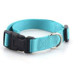 Image 5 - Collar de perro para mascotas Collar de perro de Nylon de poliéster liso básico clásico con hebilla rápida a presión, puede combinar Correa y arnés