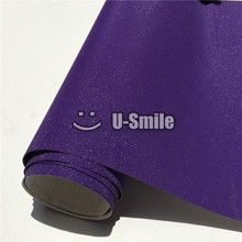 High Quality Purple Sparkle Sandy Glitter Vinyl Foil Film Bubble Free For Phone Laptop Ipad Sticker Cover Size:1.52*30M