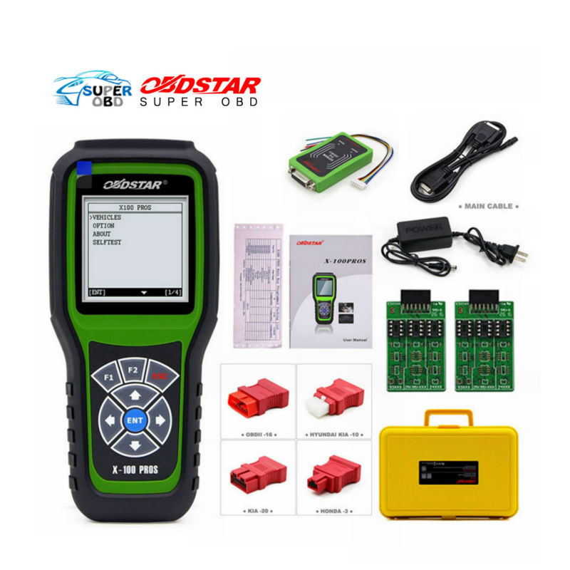Original OBDSTAR X100 PROS Key Programmer with EEprom Adapter+IMMOBILISER+Odometer Adjustment C+D+E model with free shipping