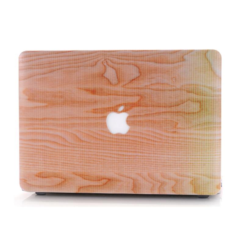 NAUJAS medienos grūdų plastikinis dangtelis Macbook Air 11 13 Pro - Nešiojamų kompiuterių priedai - Nuotrauka 3