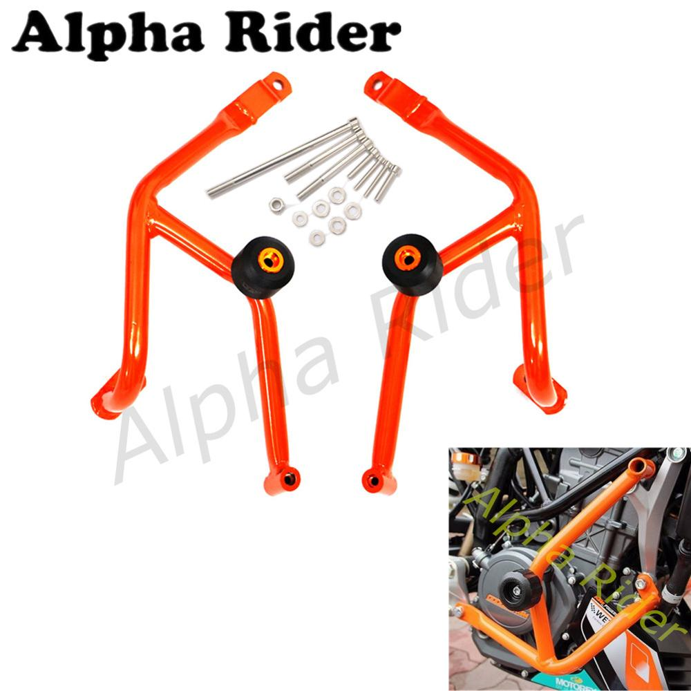 For 2014-2016 Ktm 390 Duke Motorcycle Bumpers Front Buffer Crash Bars Knees Legs Protector Frame Engine Guard Kits Black Bumpers & Chassis