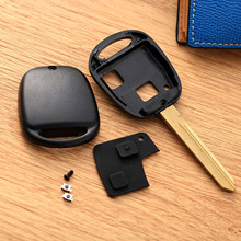 2Buttons Keyless Entry Car Remote Key Fob Shell Case Fit for Toyota Avensis Toy47 Replacement Car Key Cover Switch Button Rubber aml030506 replacement 4 button remote key cover shell case for toyota black