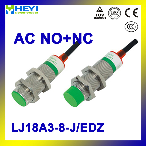 inductive proximity switch 5PCS/LOT LJ18A3 8 J/EDZ AC 3 wire NO+NC ...