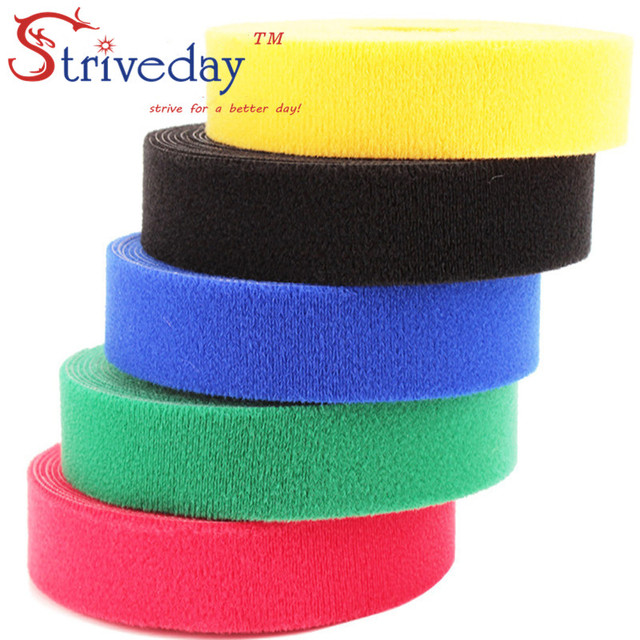 5 m/roll magic tape nylon cable ties Width 2cm wire cable ties Earphone Winder velcroe tie 6 colors choose from