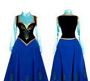2015 sneeuw queen prinses anna gemaakt cosplay kostuum womens met mantel kroning jurk gratis verzending
