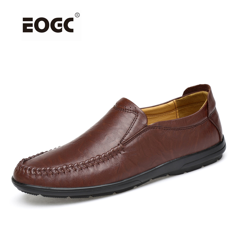 Plus Size Men Shoes Genuine Leather Casual Shoes Slip On Loafers Moccasins Handmade Driving Shoes Men Zapatos Hombre bole new handmade genuine leather men shoes designer slip on fashion men driving loafers men flats casual shoes large size 37 47
