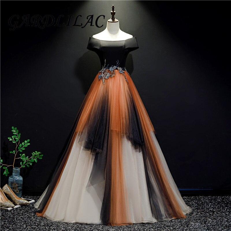 Hors De l'épaule Quinceanera robes dégradé Tulle dentelle Appliques mascarade robe De bal robes formelles De bal robes De 15 Anos