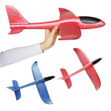 Yooap 48cm flying glider childrens toys outdoor baby DIY toy hand throw model foam airplane