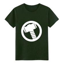 Men's Thor Logo Avengers Marvel t shirt Character cotton O-Neck Natural Crazy Basic Spring Trend shirt