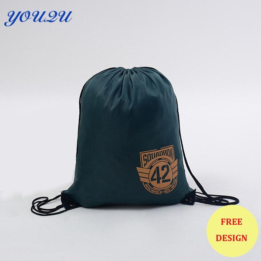 Custom string bag polyester drawstring bag cotton drawstring bag Low price escrow accept