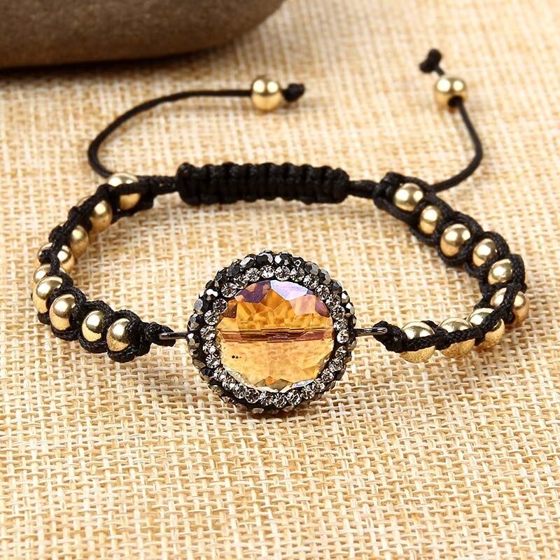 BERBENY2018 Natural beads bracelets crystal fashion women bracelet vintage stainless steel braceletes for women