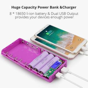 Image 2 - New DIY 8x18650 Portable Battery Power Bank Shell Case Box LCD Display Dual USB Powerbank Box KIT Powerbank 18650(No Battery)