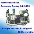 Original y desbloqueado para samsung galaxy s4 i9505 motherboard placa lógica mainboard con fichas completas a toda la función de la versión europea del