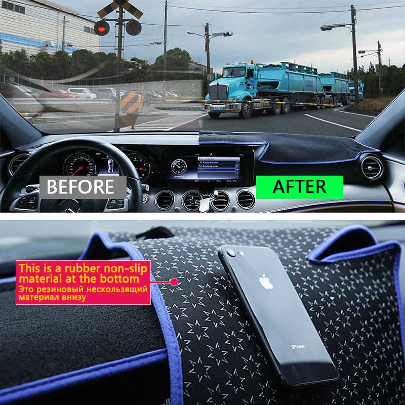 Untuk Audi Q7 4 M 2016 2017 2018 2019 Anti-Slip Anti-UV Mat Dashboard Cover Pad Sun Shade Dashmat melindungi Karpet Aksesoris S-Line