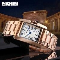 SKMEI Лидер продаж женские часы для женщин часы роскошные нержавеющая сталь Аналоговые кварцевые часы для женщин Relogio Feminino Montre Femme