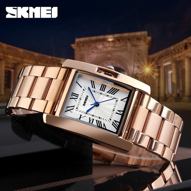 SKMEI Hot Sales Ladies Watch Clock Women Watches Luxury Stainless Steel Analog Q
