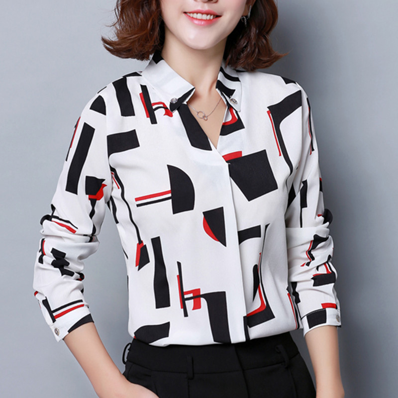 Fashion Blouses Womens Tops And Blouse Autumn Blusas Mujer De Moda Blouse Women Blouse Woman Ladies Shirts Plus Size XXXL