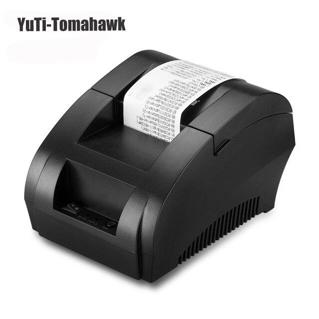 Оригинал POS Мини 58 мм Низкий Уровень Шума POS Чекового Термопринтера с USB Порт ЕС PLUG низкий уровень шума freeshipping
