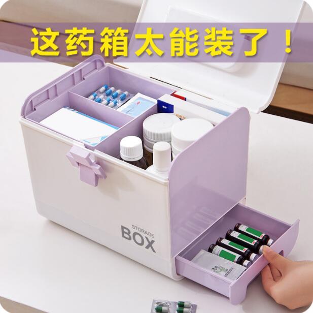En plastique Médecine Boîte Grande Médecine de Premiers secours Kit Ménage Organisateur Portable Boîte De Stockage Médicaux