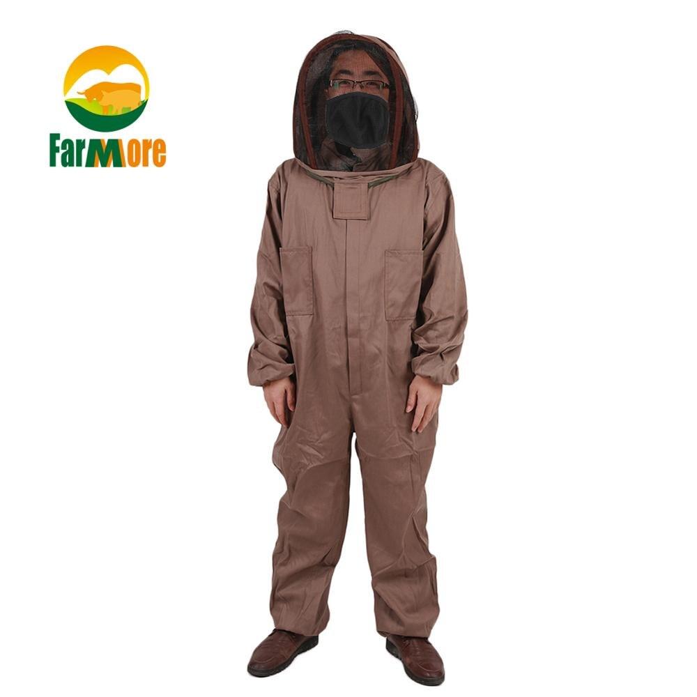 1 set Apicoltura Giacca di Cotone Completo di Protezione Apicoltura abiti Grigi Anti Ape Vestito Apicoltore Strumenti di Apicoltura Accessori