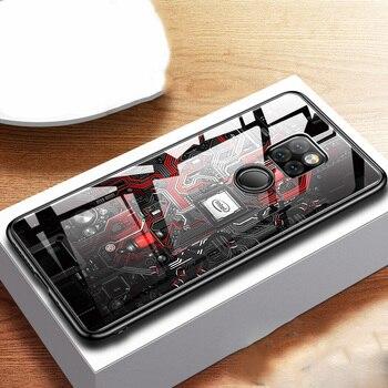 Aixuan Cassa di Vetro Per Huawei Compagno di 20 Pro Huawei Mate 20 20X verniciato Temperato di Vetro Del Silicone di Protezione Della Copertura completa custodie