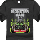 2017 New Casual Monster Jam Grave Digger Monster Truck Design Men's 100% Cotton T Shirt High Quality O-Neck Short Sleeve Tees