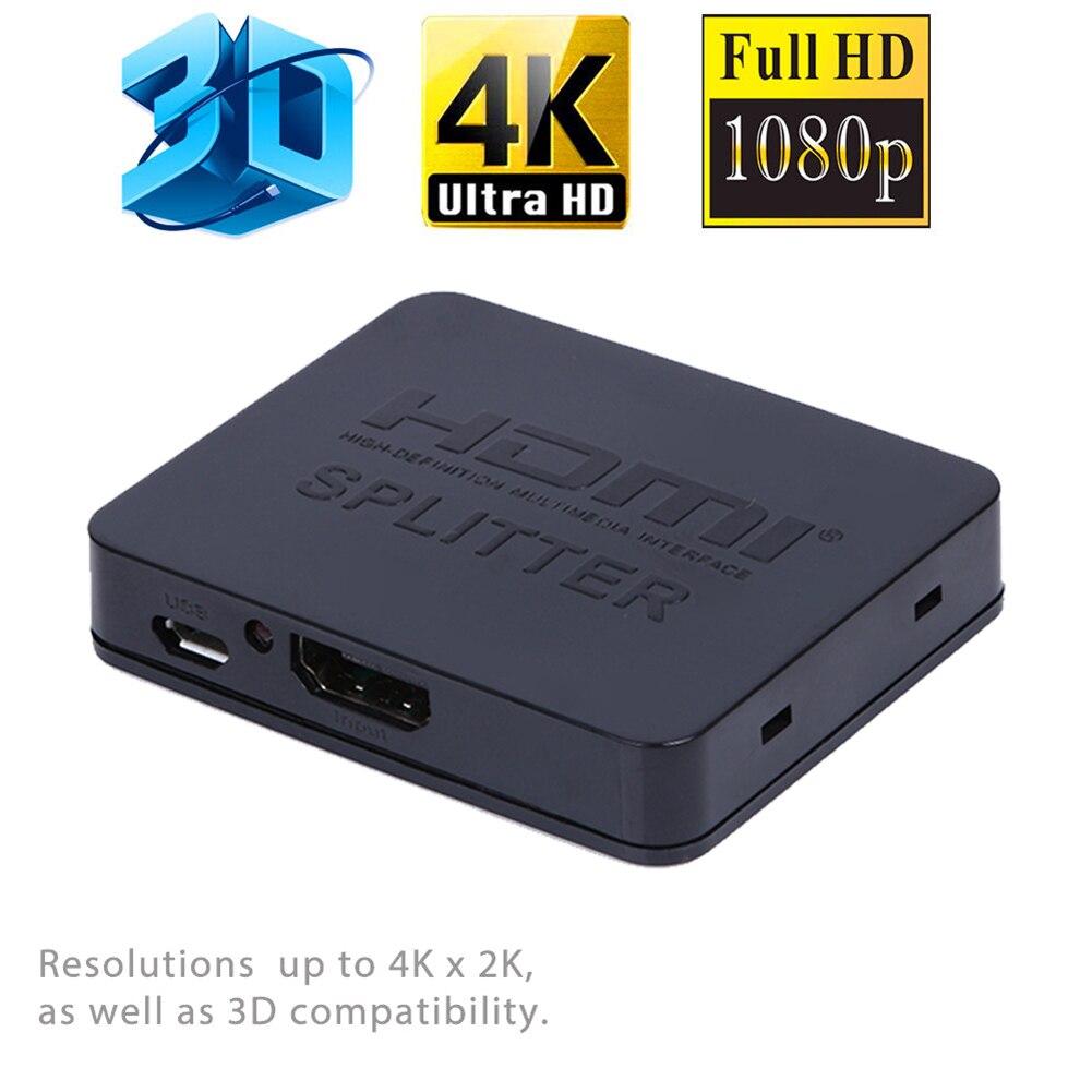Ultra HD 4K HDMI Splitter Full HD 3D 1080p Video HDMI Switch Switcher 1X2 Split 1