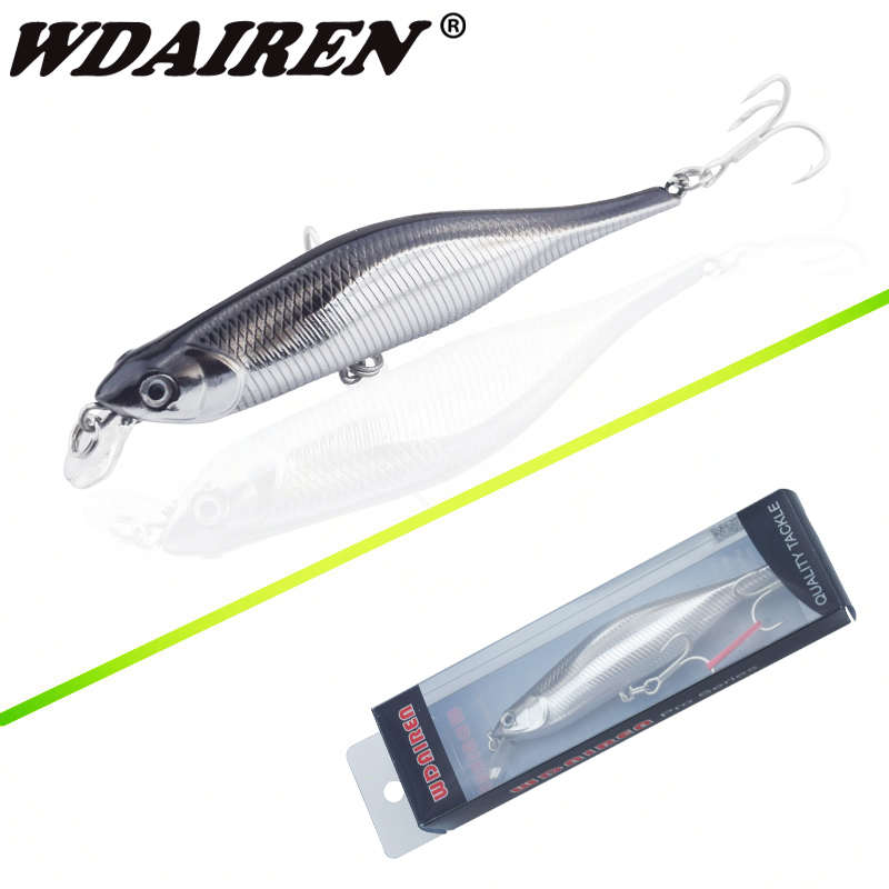 WDAIREN New Fishing Lures Minnow Crank 11cm/11g Artificial Japan Hard Bait Wobbler Swimb ...