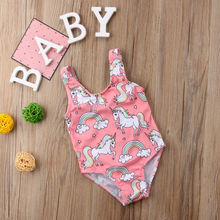 Cute Cartoon Baby Kids Girls Swimsuit Swimwear Bathing Suit One-piece Bikini Children Monokini