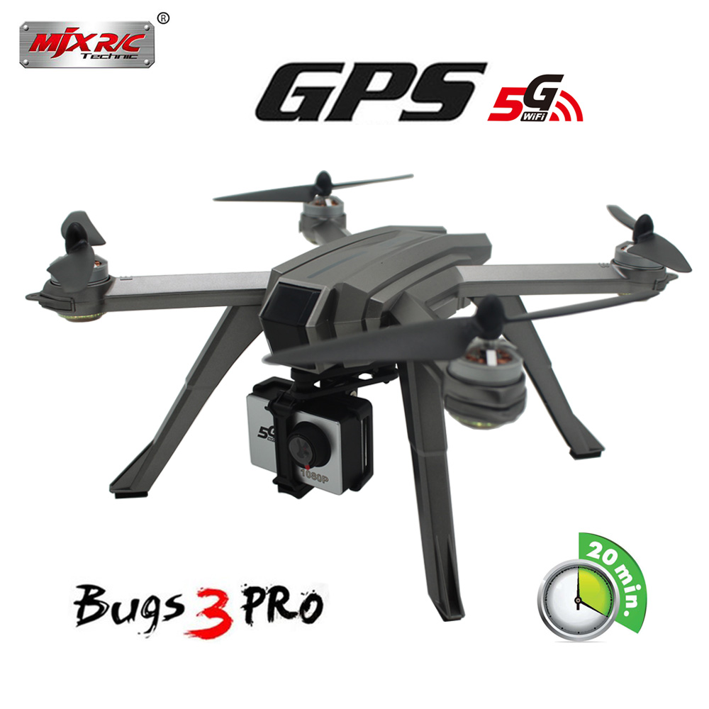 Novos Bugs 3 Pro B3PRO GPS motor Brushless MJX RC Drone Com WIFI 720 P OU 1080 P HD Camera RC Helicóptero VS Bugs 5 W Quadcopter