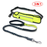 Multifunctional 3 In 1 Dog Leash Elastic Walking Dog Traction Rope Running Leash With Separable Waist
