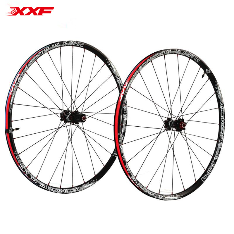 Hot sale 27.5 Mtb Wheels front 2/rear 4 bearing Bike Parts Aluminum Alloy Racing bike Wheelsets 28holes bicycle accessaries aluminum alloy bicycle flat front fork washer golden 28 6mm