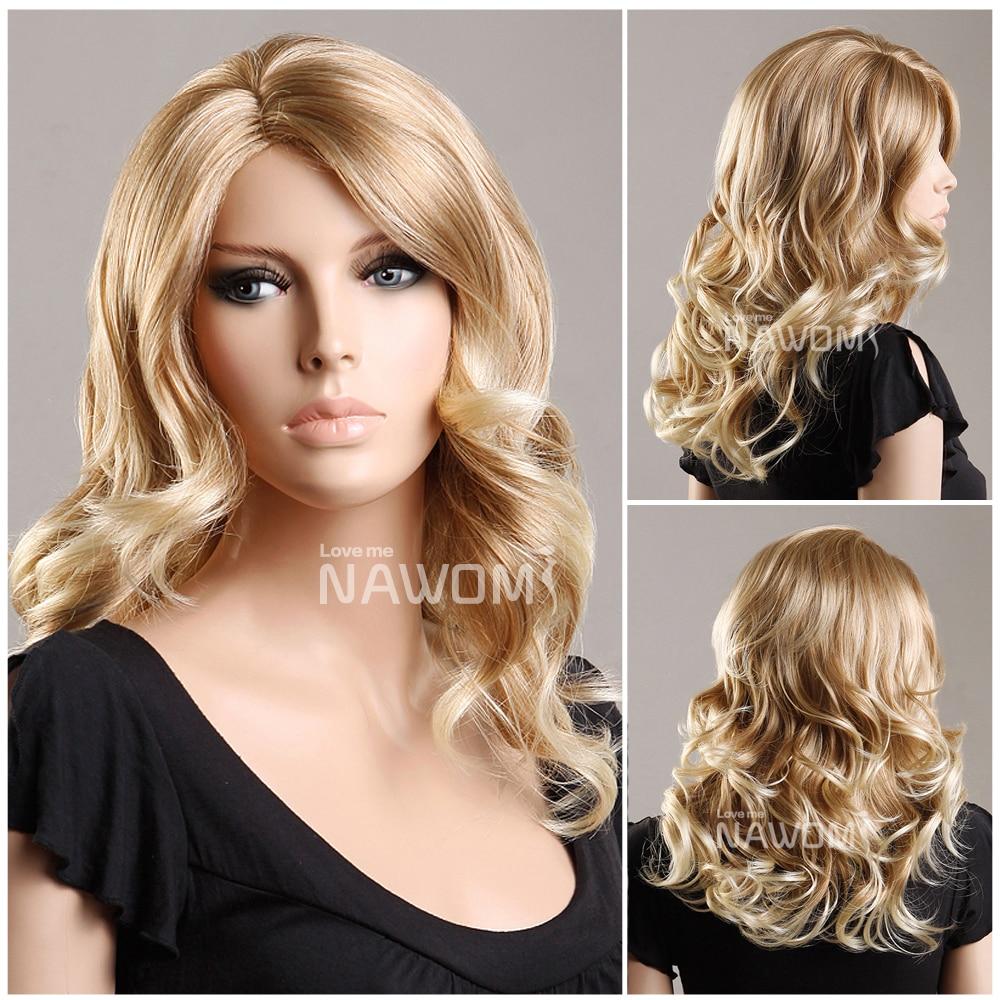 medium long blond wigs for women european hair wigs weaves real looking hair  high quality wigsZL977 27T613 on Aliexpress.com  3e132e9601