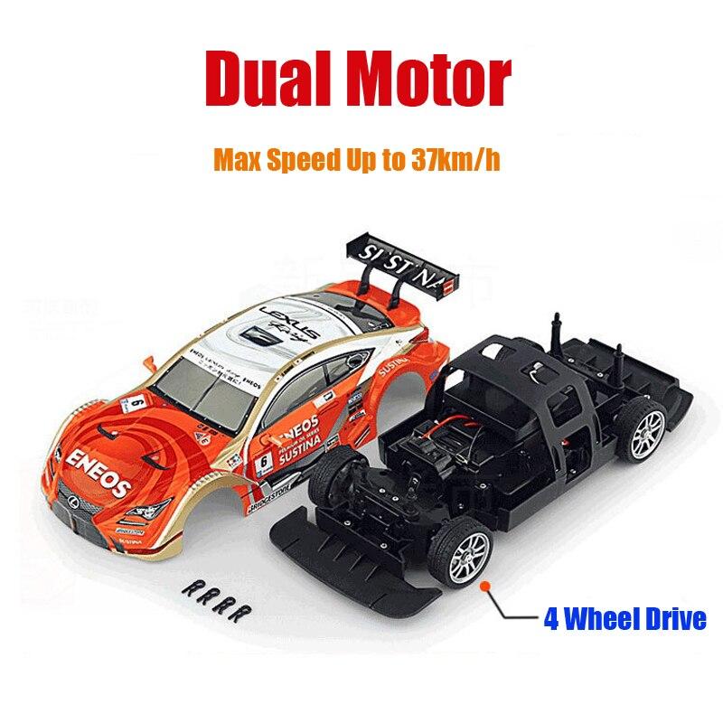 Voiture RC pour GTR/Lexus 4WD dérive course voiture championnat 2.4G hors route Rockstar Radio télécommande véhicule électronique passe-temps jouets - 6