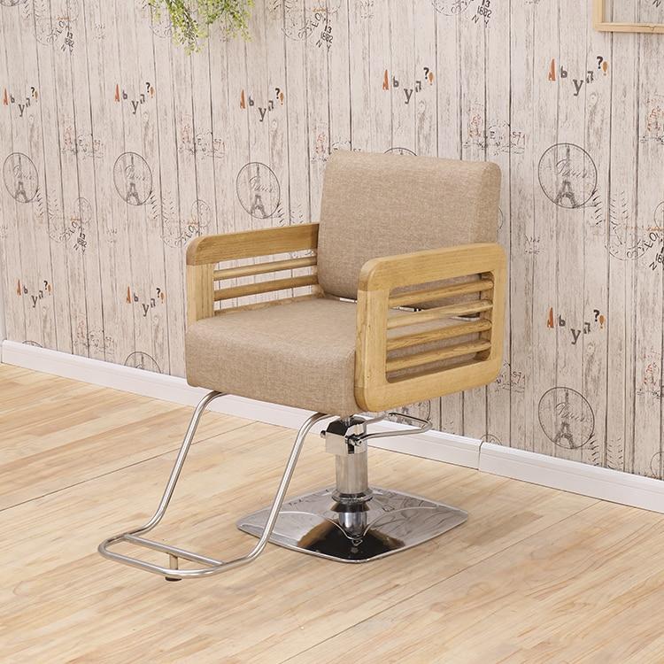 Купить с кэшбэком Hair salon special barber chair hair chair simple hairdressing shop chair can lift hair chair high grade hairdressing chair.