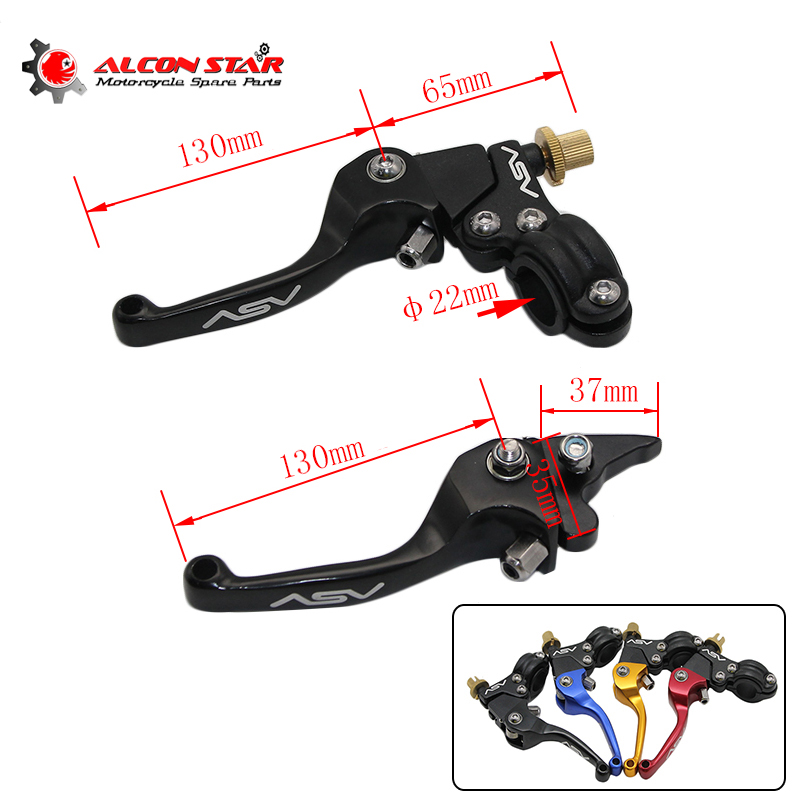 Alconstar- Aluminum Alloy ASV F3 Series Short Clutch Brake Folding Lever Fit Most Motor ATV Dirt Bike KXF CRF YFZ KLX CQR KLX цена