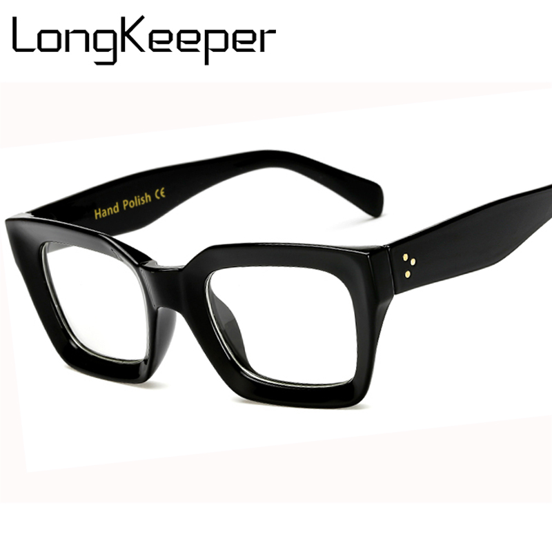 Long Keeper Men Women Square Eye PC Glasses Frames Unisex Optical Glasses PC Eyeglasses Men Computer Clear Len Eyewears #AM6885