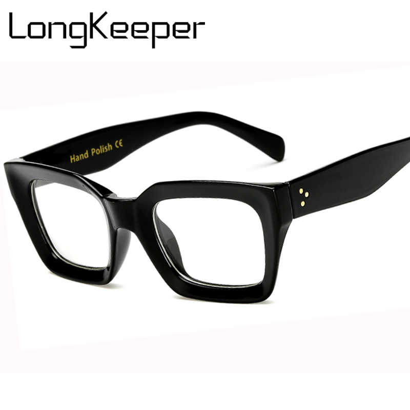 cb8d906a3277 Long Keeper Men Women Square Eye PC Glasses Frames Unisex Optical Glasses  PC Eyeglasses Men Computer