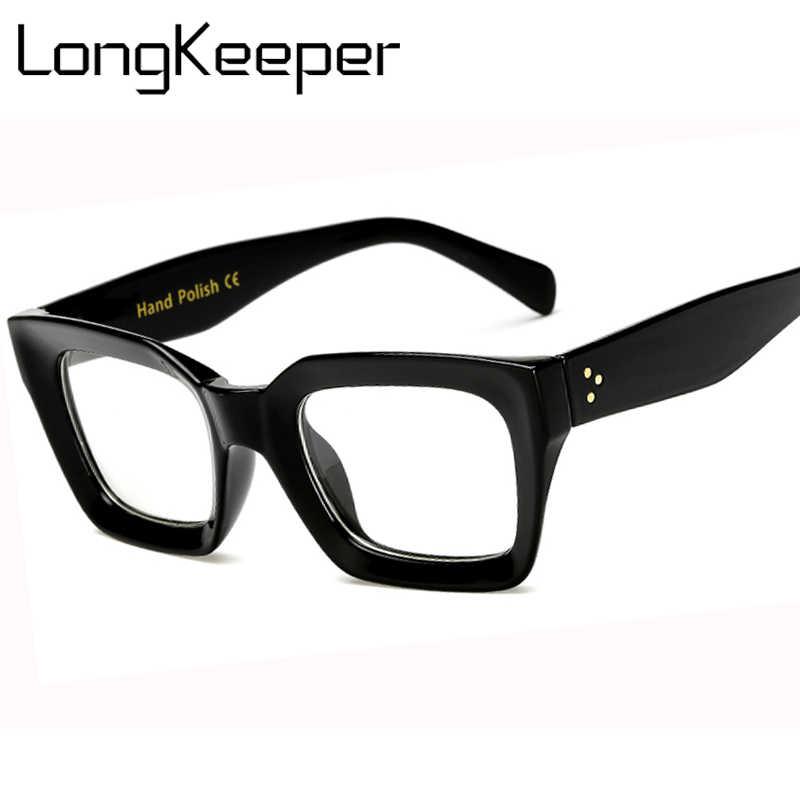 91018196c94 Long Keeper Men Women Square Eye PC Glasses Frames Unisex Optical Glasses  PC Eyeglasses Men Computer