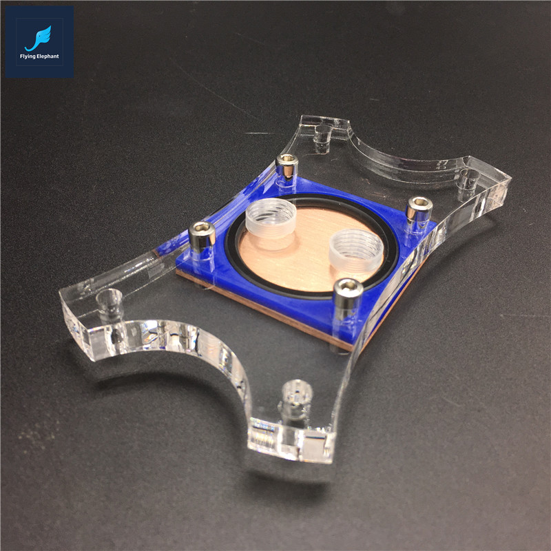 Flying-Elephant CPU Water Block Coumputer Water Cooling Head For AMD AM2 AM2+ AM3 AM3+ FM1 cpu cooling conductonaut 1g second liquid metal grease gpu coling reduce the temperature by 20 degrees centigrade