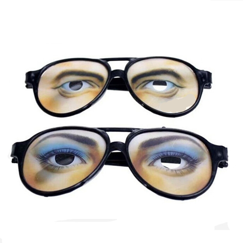 Halloween Fun Eyewear April fool's day thick eyeglasses adult men women funny sunglasses theme  party  mask eye wear joke