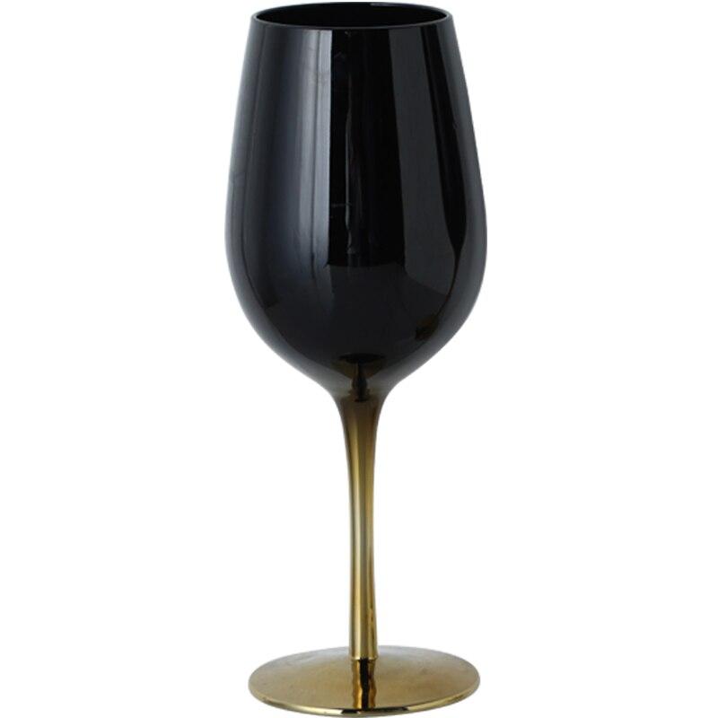 Europe Creative Electroplating Black crystal champagne glasses wine glass cocktail goblet Wedding Glasses Gift Drinkware
