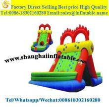 Outdoor Water slide entertainment equipment inflatable slides with pool