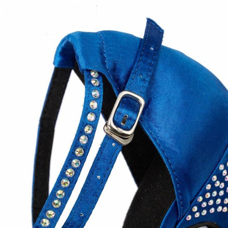 2f4668d5a The New European&American Latin Dance Shoes Women Satin Rhinestone Ballroom  Modern Custom High heel -in Dance shoes from Sports & Entertainment on ...
