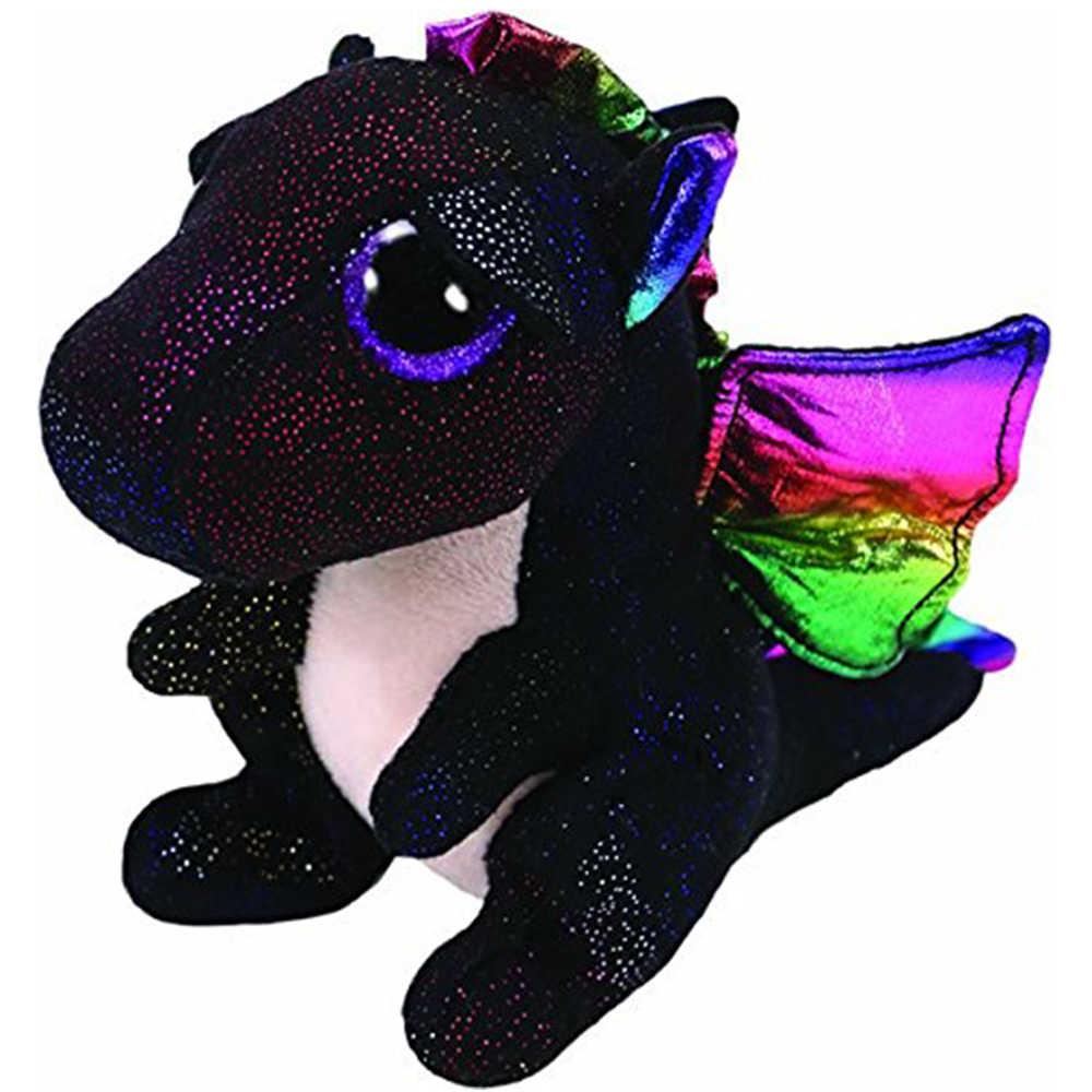 "Pyoopeo Asli TY Boo 10 ""25 Cm Anora Naga Mewah Sedang Lembut Bermata Besar Boneka Koleksi boneka Mainan dengan Hati:"