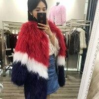 גברת Mixcolors בעור אמיתי פרווה טבעית סרוגה נדל דביבון פרווה מעיל/ז 'קט/מעיל עבה נשים חמים ארוך מעילי מעילי פרווה אמיתיים סגנון