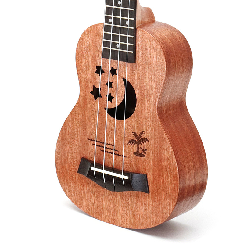 New Zebra 21 23Sapele Star Pattern Ukulele Hawaii Mini Guitar 4 Strings Uke Brown Rosewood Instrument Ukelele Gift syds good deal 17 mini ukelele ukulele spruce sapele top rosewood fretboard stringed instrument 4 strings with gig bag 2