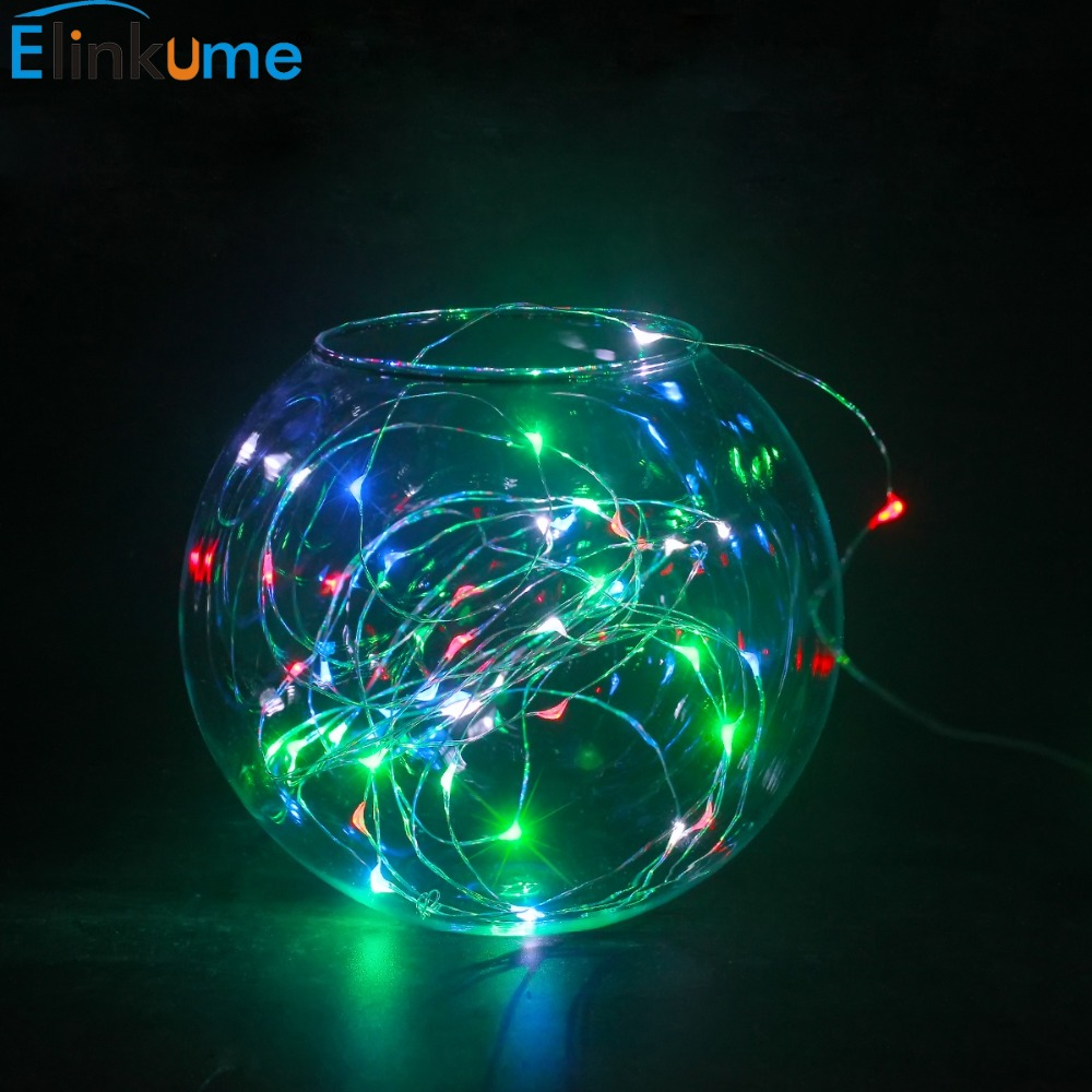 led string light waterproof christmas lights outdoor garden 3m 30led battery operated on 164ft5m long both steady on flash